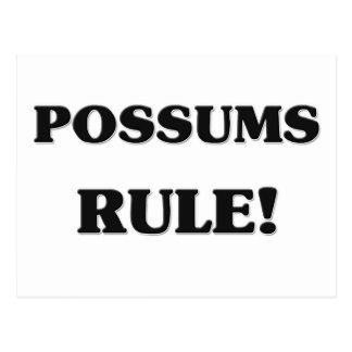 Regla de los oposums postales