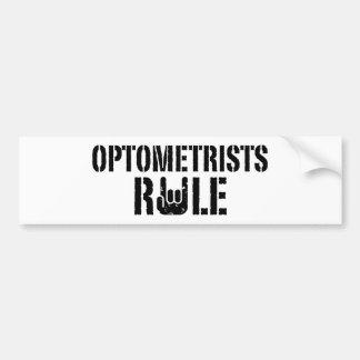 Regla de los optometristas pegatina para auto
