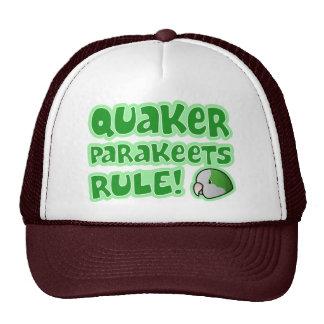 Regla de los Parakeets del Quaker Gorras