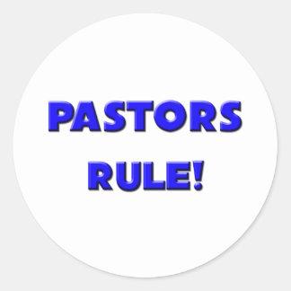 ¡Regla de los pastores Etiquetas Redondas