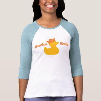 Regla de los patos (Girlie atlético) Camiseta