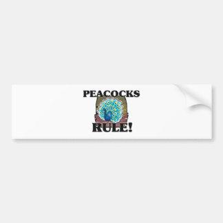 ¡Regla de los PAVOS REALES! Pegatina De Parachoque