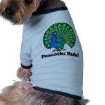 ¡Regla de los pavos reales! Camisa De Perrito