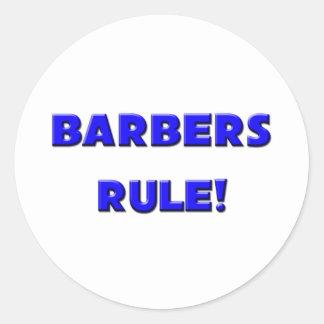 ¡Regla de los peluqueros! Pegatinas Redondas