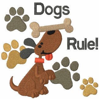 ¡Regla de los perros! Sudadera Con Serigrafia