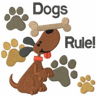 ¡Regla de los perros! Sudadera Bordada Con Cremallera De Mujer