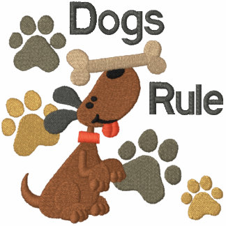 ¡Regla de los perros! Sudaderas Bordadas