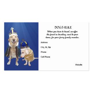 Regla de los perros plantillas de tarjetas de visita