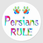 Regla de los persas etiquetas redondas