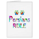 Regla de los persas tarjeta