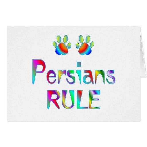 Regla de los persas tarjeton