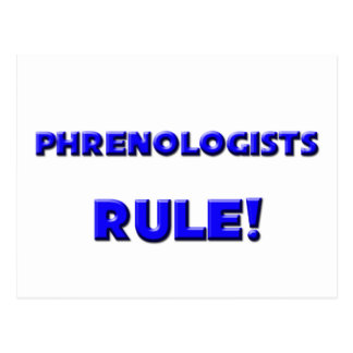 ¡Regla de los Phrenologists! Postal
