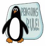 Regla de los pingüinos escultura fotográfica