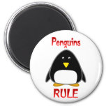 Regla de los pingüinos imán para frigorífico