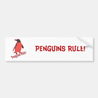 ¡Regla de los pingüinos! Pegatina Para Auto