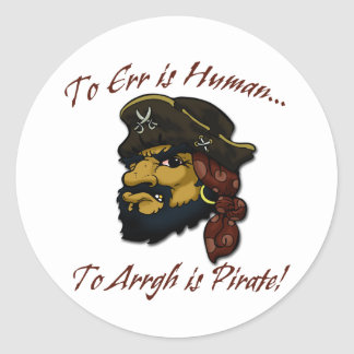 ¡REGLA de los piratas! Pegatina Redonda