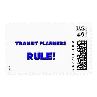 ¡Regla de los planificadores del tránsito! Sello