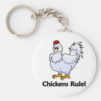 ¡Regla de los pollos! Llavero Redondo Tipo Pin