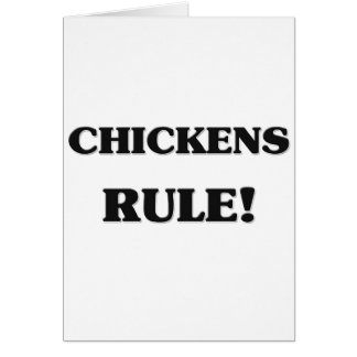 Regla de los pollos felicitación