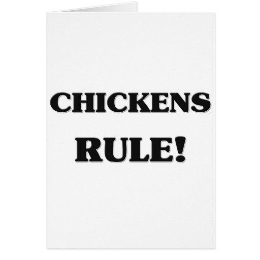 Regla de los pollos tarjeta de felicitación