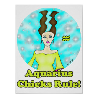 ¡Regla de los polluelos del acuario! Póster