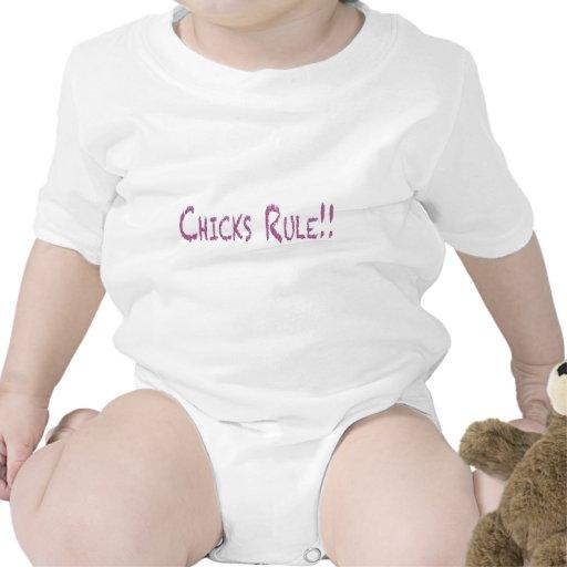 Regla de los polluelos en transparente traje de bebé