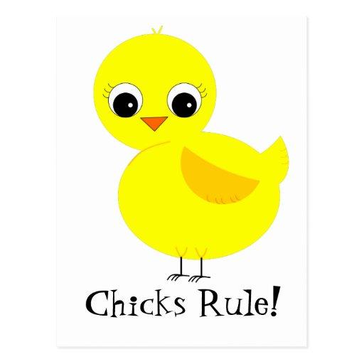 ¡Regla de los polluelos! Postales