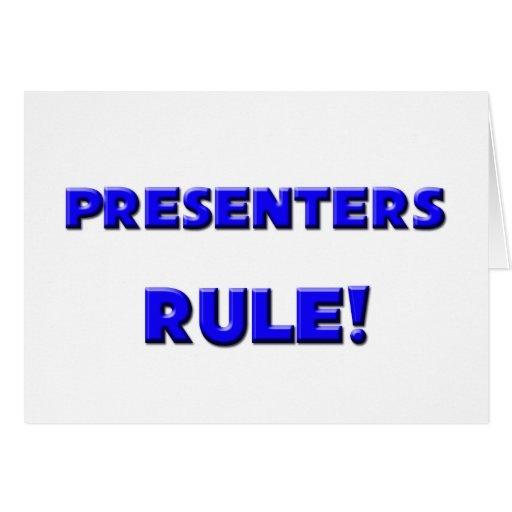 ¡Regla de los presentadores! Felicitación