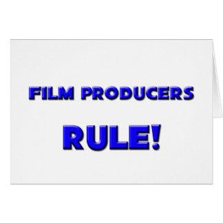 ¡Regla de los productores cinematográficos! Tarjeta De Felicitación