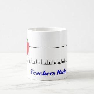 Regla de los profesores, A, B, C, 1, 2, taza 3