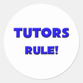 ¡Regla de los profesores particulares! Pegatina Redonda