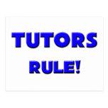 ¡Regla de los profesores particulares! Postales