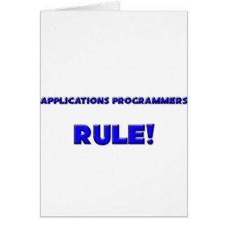 ¡Regla de los programadores de los usos! Tarjeta De Felicitación