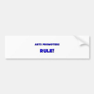 ¡Regla de los promotores de los artes! Etiqueta De Parachoque