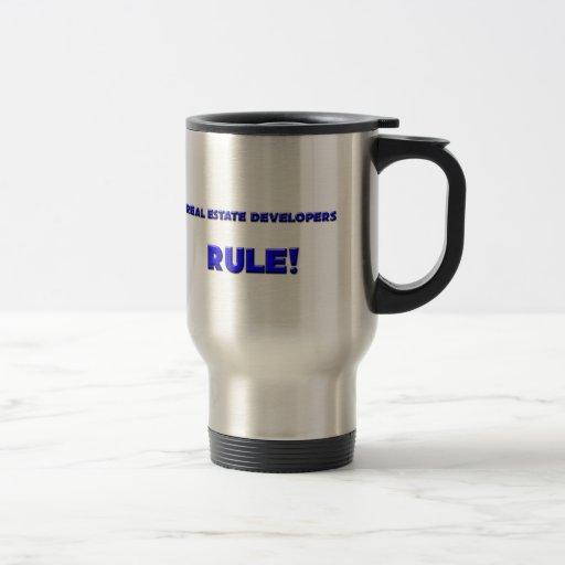 ¡Regla de los promotores inmobiliarios! Taza De Café