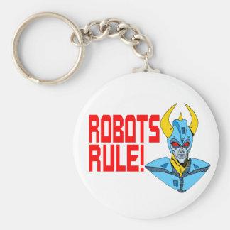 Regla de los robots llavero redondo tipo pin