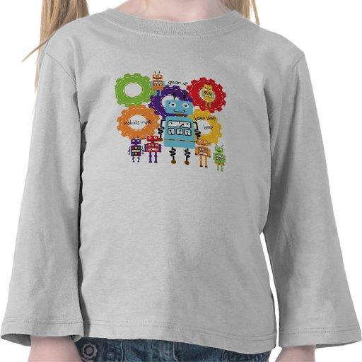 Regla de los robots camisetas