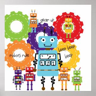 Regla de los robots póster