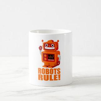 Regla de los robots taza básica blanca