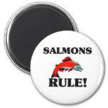 ¡Regla de los SALMONES! Imán De Nevera