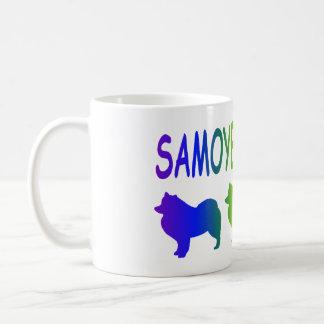 Regla de los samoyedos taza básica blanca
