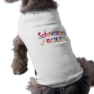 Regla de los Schnauzers Playera Sin Mangas Para Perro