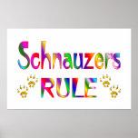 Regla de los Schnauzers Posters