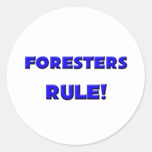 ¡Regla de los silvicultores! Etiquetas Redondas