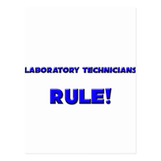¡Regla de los técnicos de laboratorio! Postal