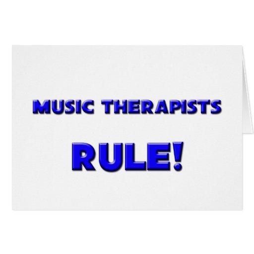 ¡Regla de los terapeutas de la música! Tarjetas
