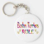 Regla de los terrieres de Boston Llaveros Personalizados