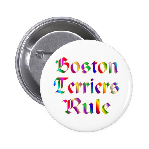 Regla de los terrieres de Boston Pin Redondo 5 Cm