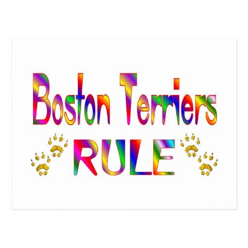 Regla de los terrieres de Boston Postal