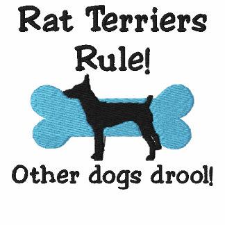 Regla de los terrieres de rata sudadera bordada con serigrafía